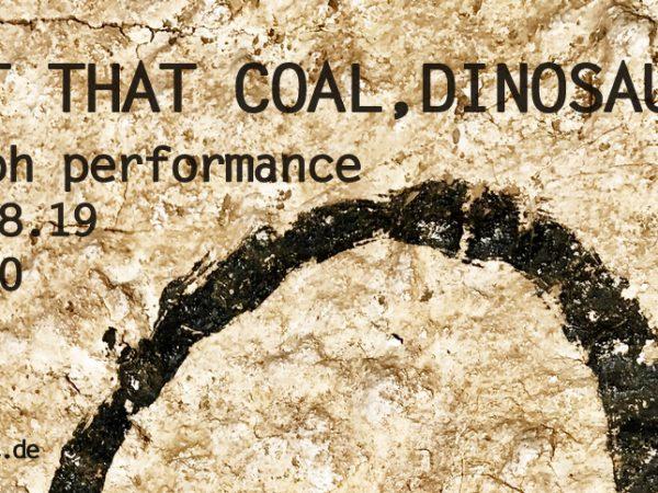 Eat that coal, dinosaur! – butoh dance performance at Ibug 2019